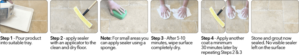 Step By Step Sealing using Aqua-Seal Gold+