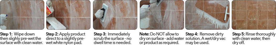 Grout haze removal from natural stone